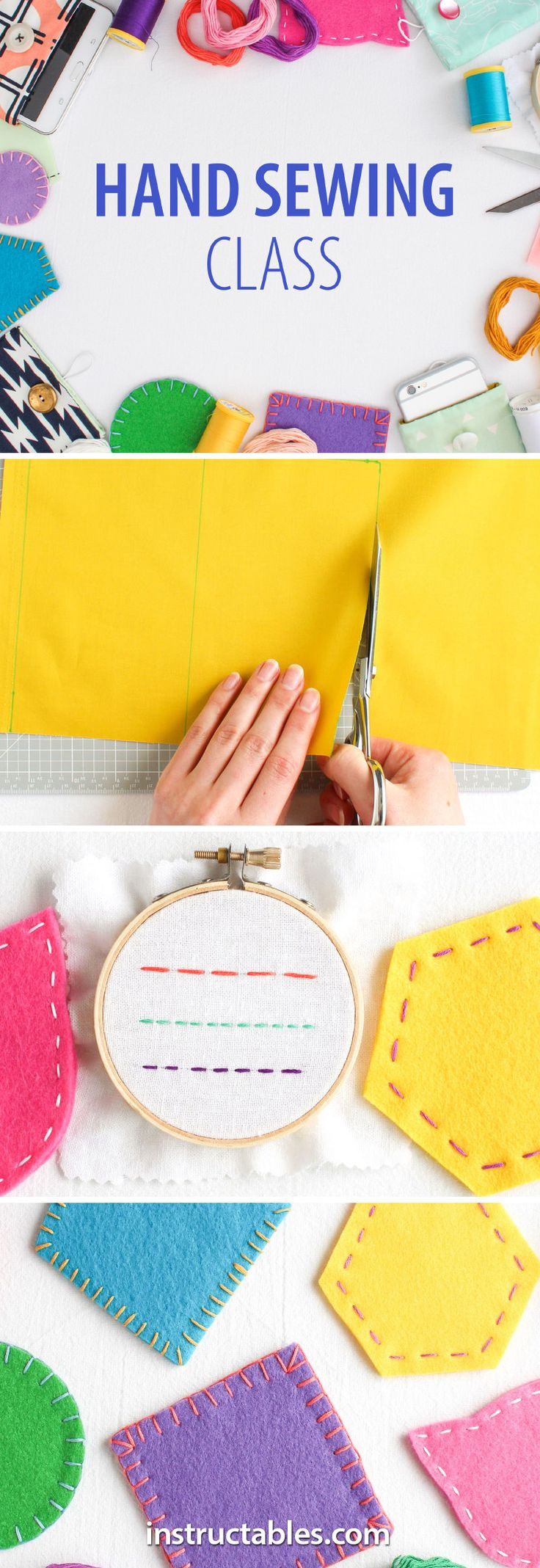 Hand sewing is the best way to mend and do repairs. Even if you sew primarily on a machine, being able to sew well by hand will allow you to finish every project you make in the cleanest, most professional-looking way.