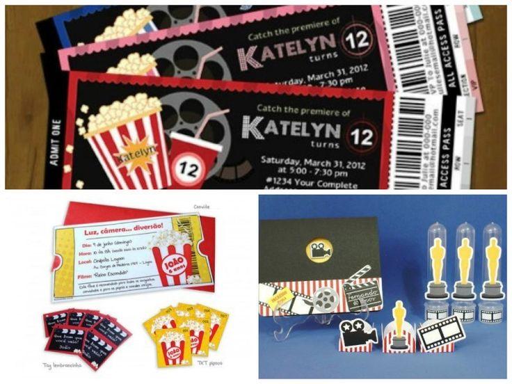 Convites para festa infantil no cinema