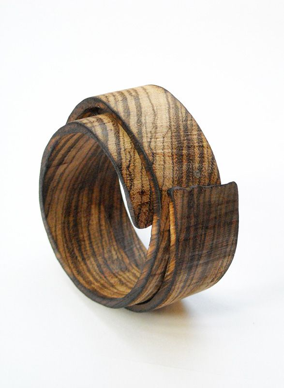 Wooden bracelet by Flóra Vági, Hungarian jewelry designer | Corner Design Store