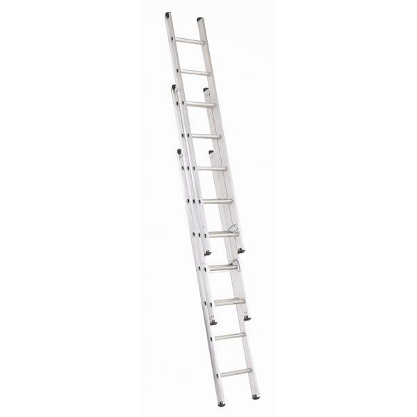 Abru Triple Extension Ladder Aluminium at wilko.com