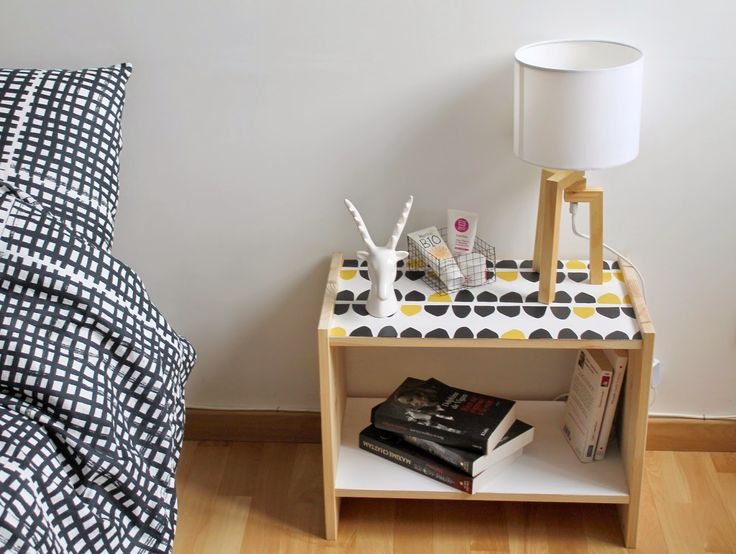 Diy customiser la table de chevet rast blog bricolage for Chambre de nuit en bois