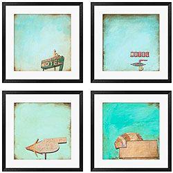Gallery Direct Michael Drake 'Polaroid Skies' 4-piece Framed Art Set | Overstock.com Shopping - The Best Deals on Framed Prints