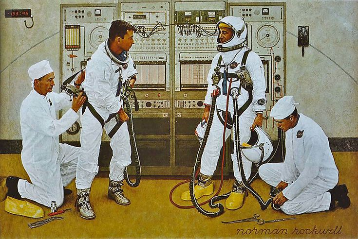1965 - astronauts - by Norman Rockwell | by x-ray delta one