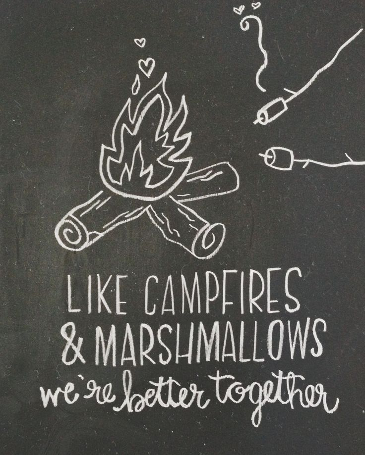 like campfires and marshmallows - we're better together | jmpaper #campetsy