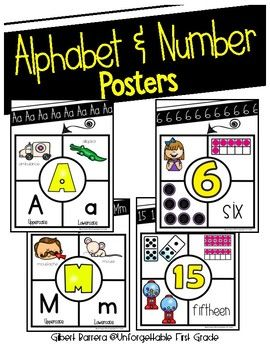 A display of letters & numbers is essential in every early elementary classroom. This is a printable teacher resource to help you display the alphabet and numbers in your classroom. It will also remind students of the single sound each letter makes.