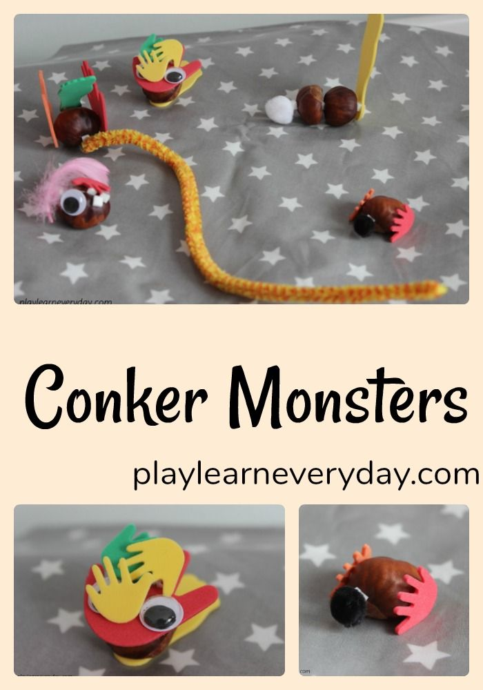 A fun and easy invitation to create monsters using conkers and some basic craft supplies.