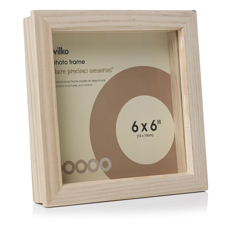 4 wilko decoupage box frame natural wood 6inx6in. Black Bedroom Furniture Sets. Home Design Ideas