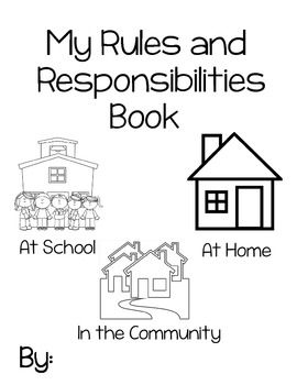 My Rules and Responsibilities Booklet #socialstudies #teachers #community