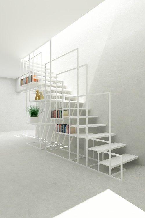 Minimalistische stalen trap ontwerp