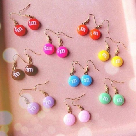 M&M EARRINGS!!!!!!!!!!!!!!!!SO COOL!!!!!!!!!!!!!!!!!!!