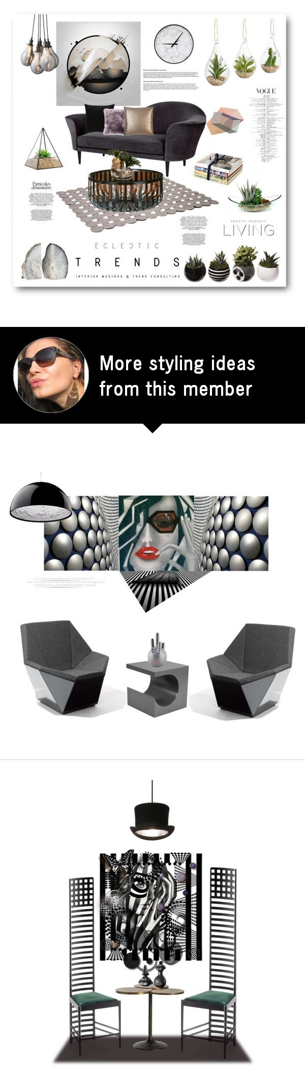 """""""Eclectic trends-Succulents"""" by zabead on Polyvore featuring interior, interiors, interior design, home, home decor, interior decorating, Gubi, JAG Zoeppritz, Barneys New York and ADZif"""