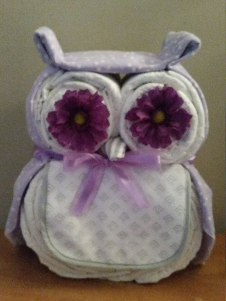Baby Shower Owl Diaper Cake