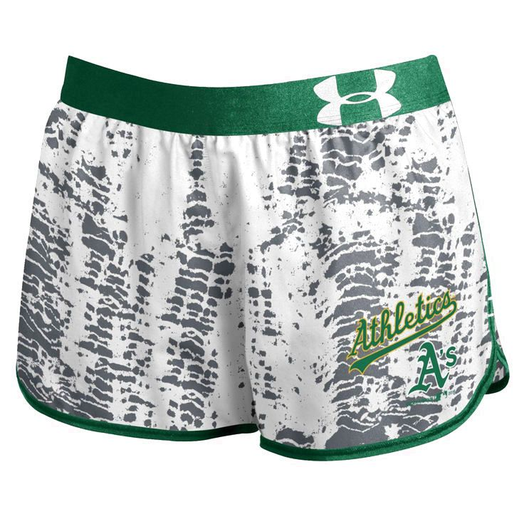 Oakland Athletics Under Armour Women's Tied Up Performance Running Shorts - Gray - $36.99