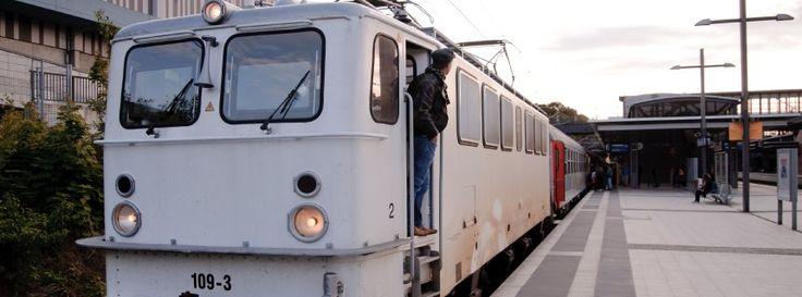 Deutschlands letzter privater Fernzug: Kurz vor Prenzlau geht die Sonne unter