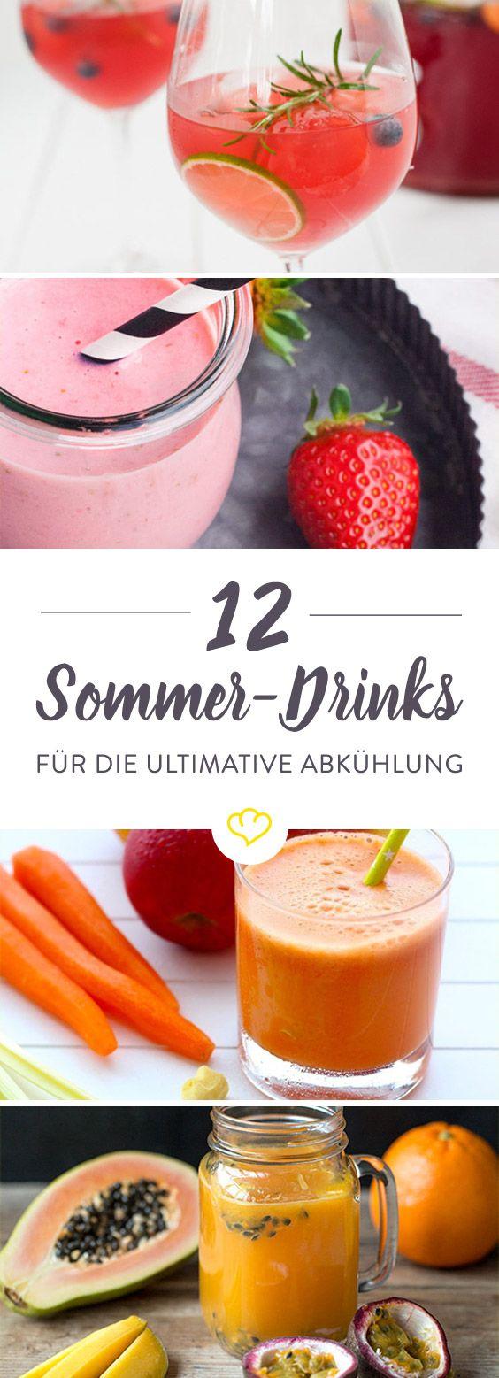 Bei 30 °C und Sonnenschein, diese 12 Drinks bleiben cool. Vom fruchtigen Wachmacher bis zum spritzigen Sundowner ist alles dabei.