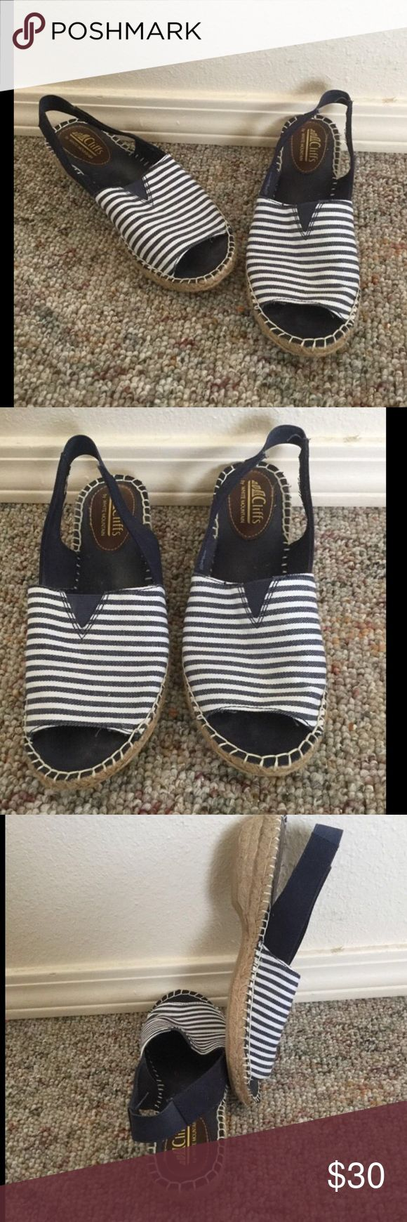 💟New Listing💟7 1/2 Cliffs White Mountain Shoes Cliffs by White Mountain Mule Slingbacks   Size 7 1/2  Great condition! Barely Worn! Very comfy! Interior shows a little wear but not exterior. White Mountain Shoes