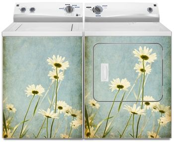 Daisy Flowers Washer and Dryer Magnet Cover