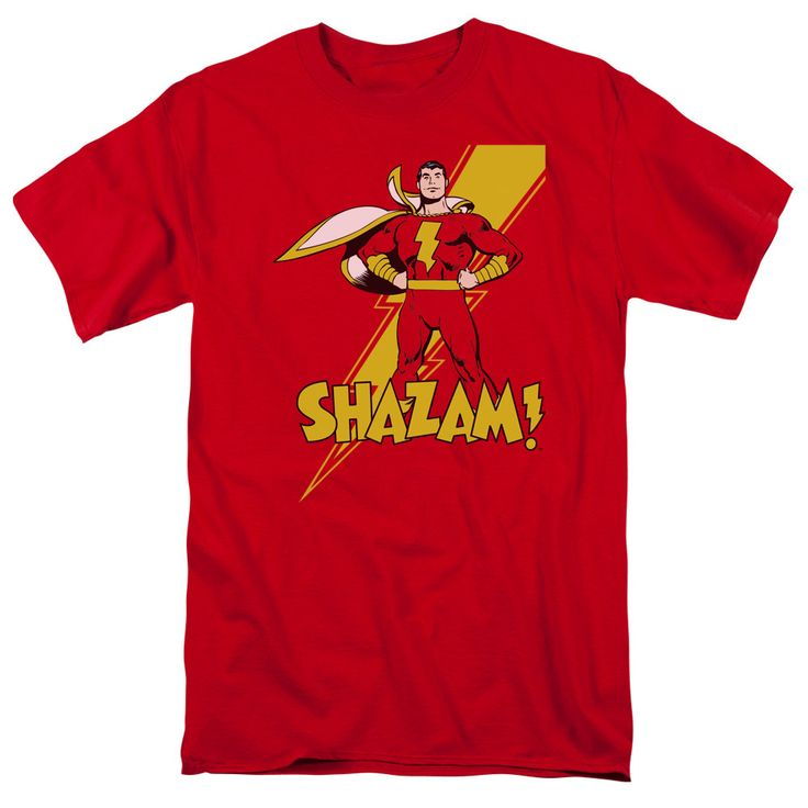 The Shazam - Shazam! Adult T-Shirt is officially licensed, made of 100% pre-shrunk cotton and available in red. Whether you're a Shazam Super fan or just looking to geek out at home, you'll love this