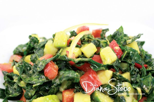 This amazing superfood salad is loaded with flavor and phytonutrients.    1 small bunch of kale leav…