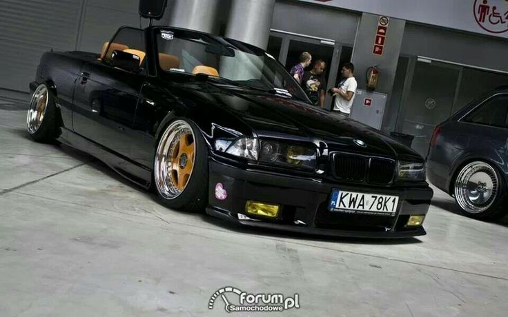 bmw e36 3 series cabrio black slammed bmw ultimate. Black Bedroom Furniture Sets. Home Design Ideas