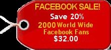 2,000 Worldwide Untargeted  Facebook Likes $32.00Favorite Places, Buy Facebook, Facebook Likes