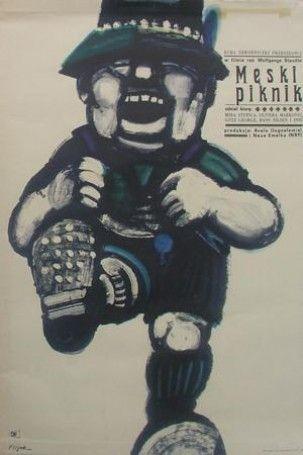 Poster Plakat Jerzy Flisak męski piknik
