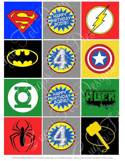 superhero symbols and emblems sugartotdesigns superhero