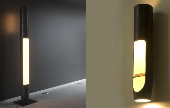 Staande lamp en wandlicht atelier boucquet architectuur