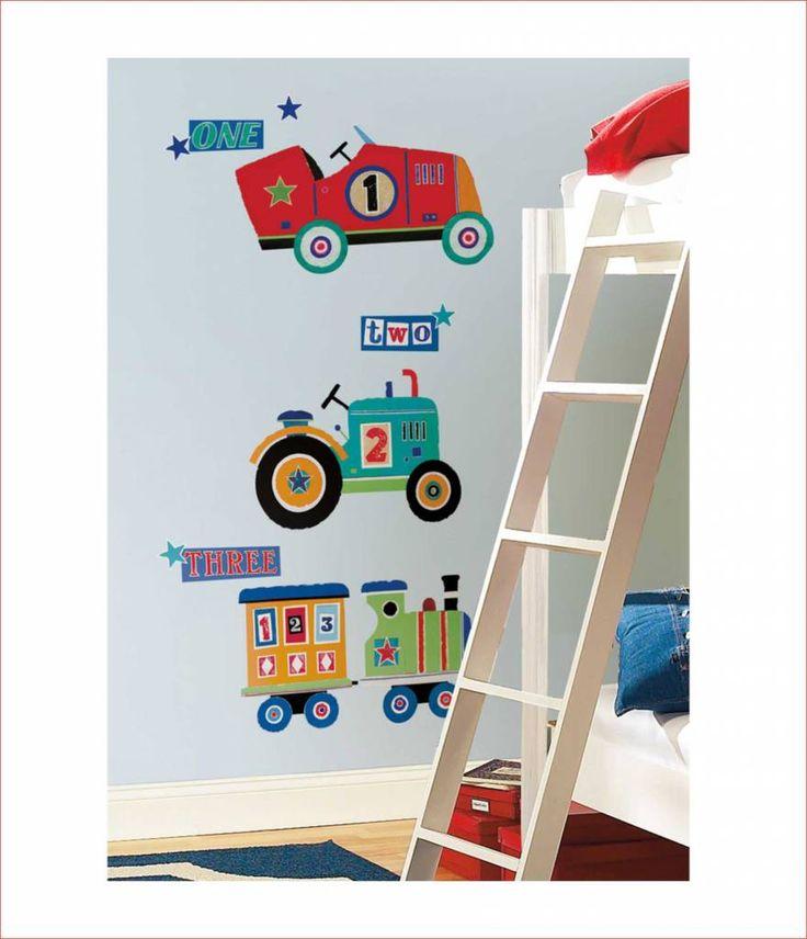 Decoratie stickers: jongenskamer muurstickers kinderkamer idee Super grote Voertuigen decoratie stickers