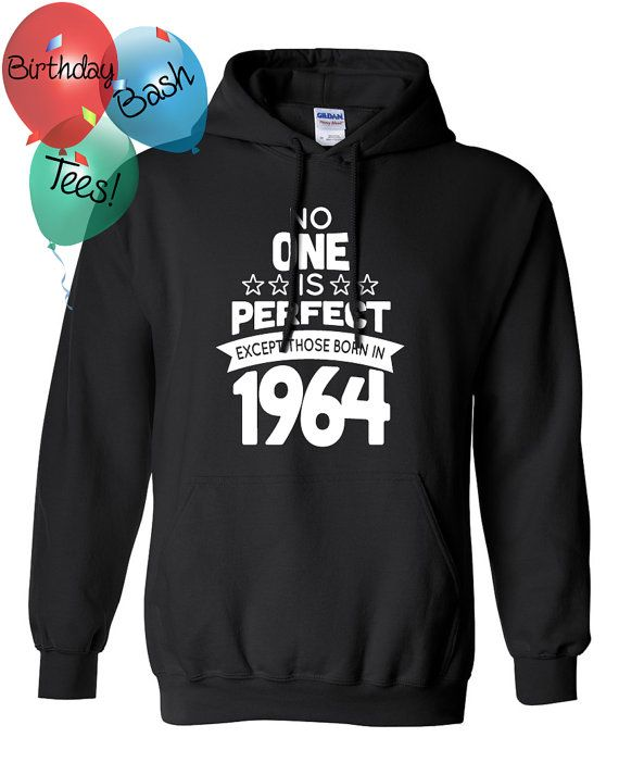52 Year Old Birthday Hoodie No One is Perfect by BirthdayBashTees