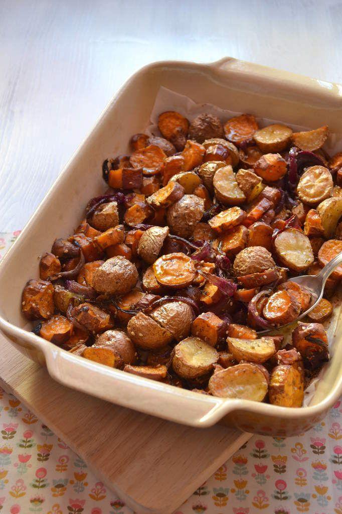 """On a tous ce plat """"fétiche"""" qu'on adore et qu'on fait en un temps record ! Moi c'est les légumes rôtis au four... quand d'autres dont je tairai le nom (et bah non en fait, je vous dis à qui je pense : mon chéri ! et bim !!) ont un """"drôle"""" de plat fétiche..."""