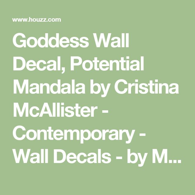 Goddess Wall Decal, Potential Mandala by Cristina McAllister - Contemporary - Wall Decals - by My Wonderful Walls