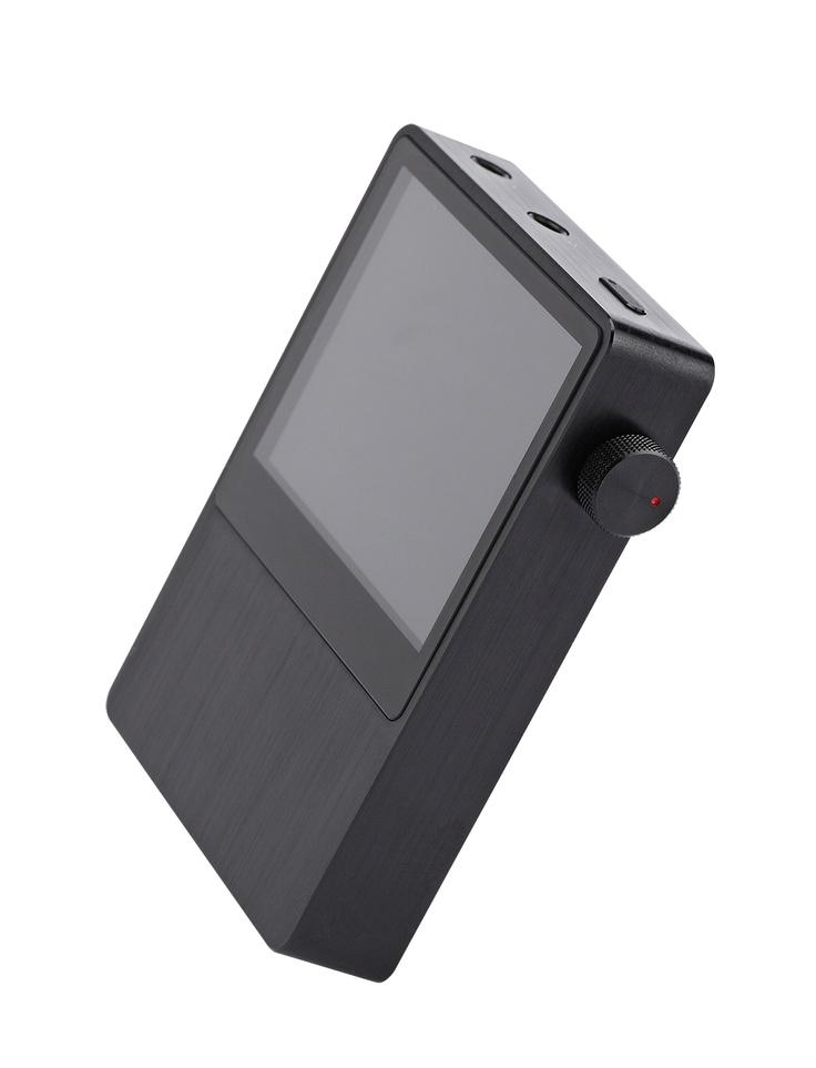 iRiver AK100, black, aluminium, display