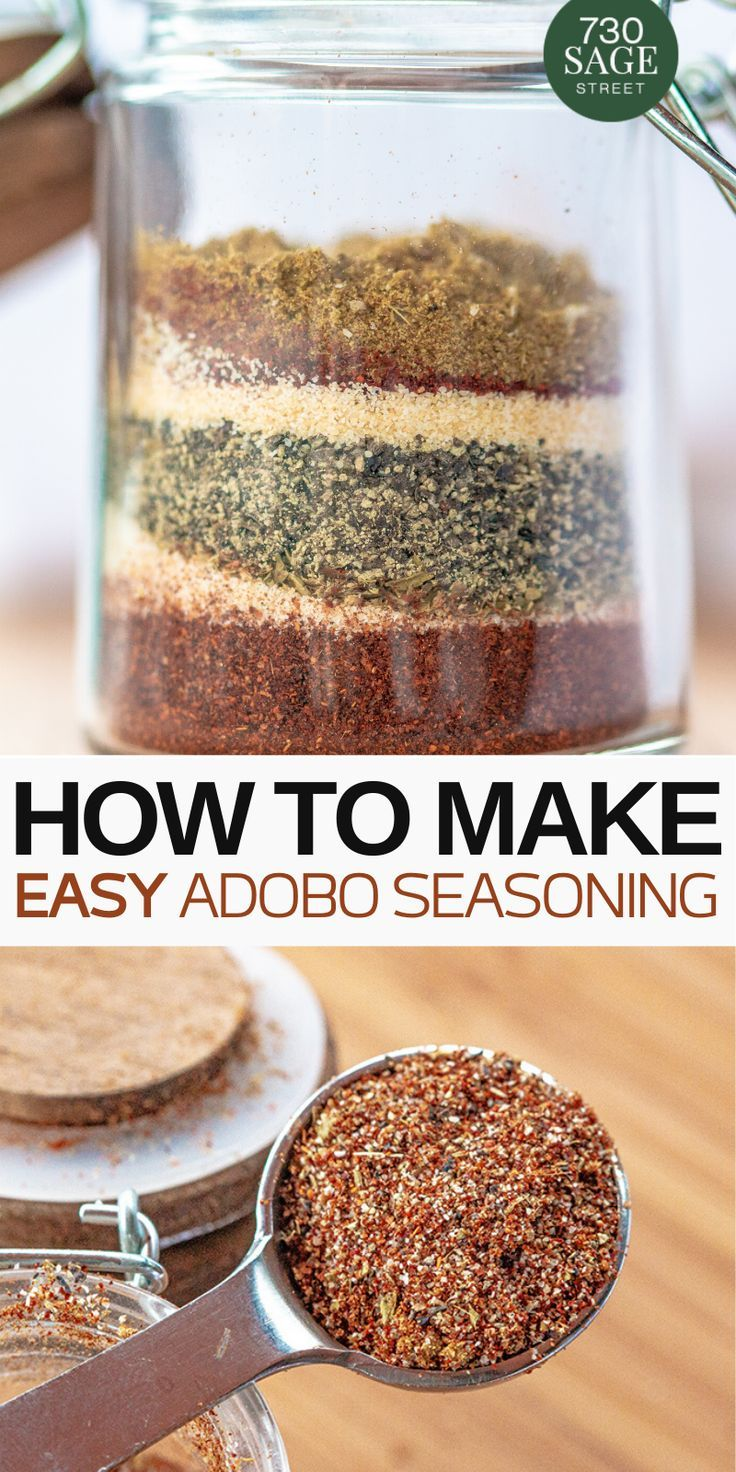 Easy Adobo Seasoning Spice Mix Recipes Homemade Dry Mixes Spice Blends Recipes