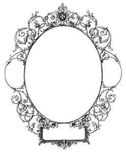 Oval Filigree Frame Tattoo | Free Vintage Vector Graphics ...