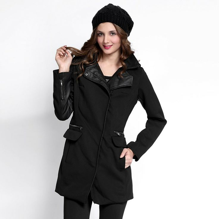 Autumn/Winter 2014 | FULLAHSUGAH PU PANEL ZIP POCKET COAT | €69.90 | 3430100120 | http://fullahsugah.gr