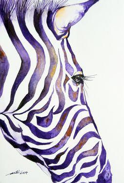 how to draw zebra stripes on a wall