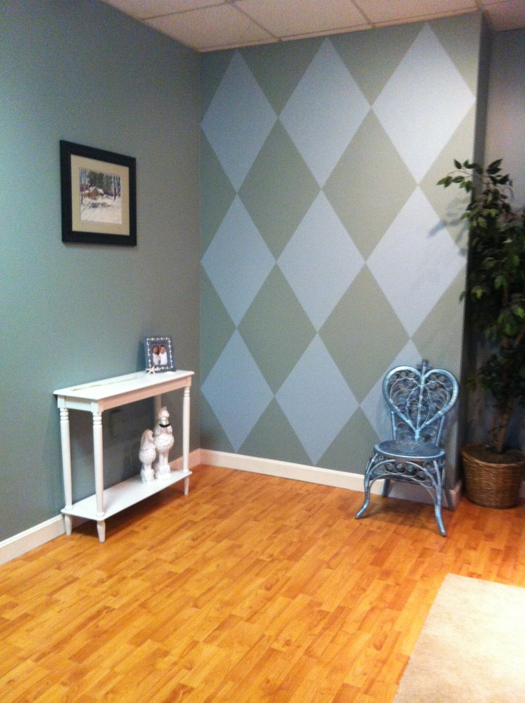 Design Wall Paint Room: Harlequin Wall Design Done With Painters Tape Instead Of