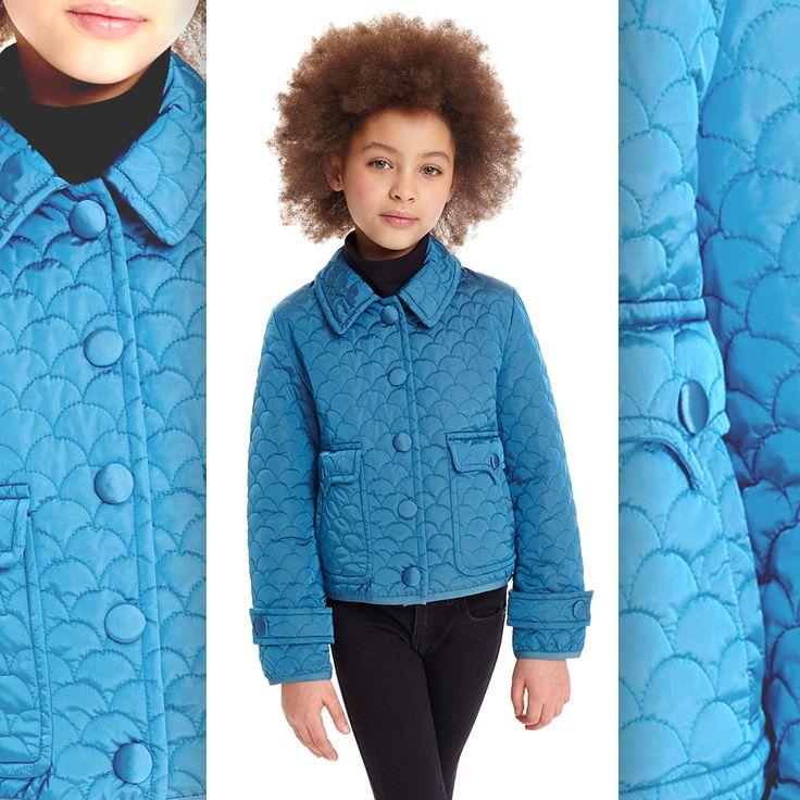 A sweet vision in blue. #adddown #kids #blue #jacket