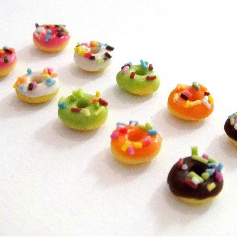 Poppie Girl Donut Stud Earrings - 5 colours avail