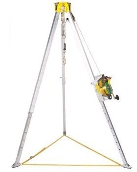 MSA Safety 10117244 Lynx Confined Space Entry Rescue Kit 50 Ft. The MSA 10117244 features the Lynx 50 ft. rescuer and Workman tripod. The confined space entry hoist may be used to raise or lower personnel and materials where they are needed. It is designed to use in conjunction with anchorage connectors, fall arresting devices & other components to form complete systems for work positioning, evacuation and emergency rescue