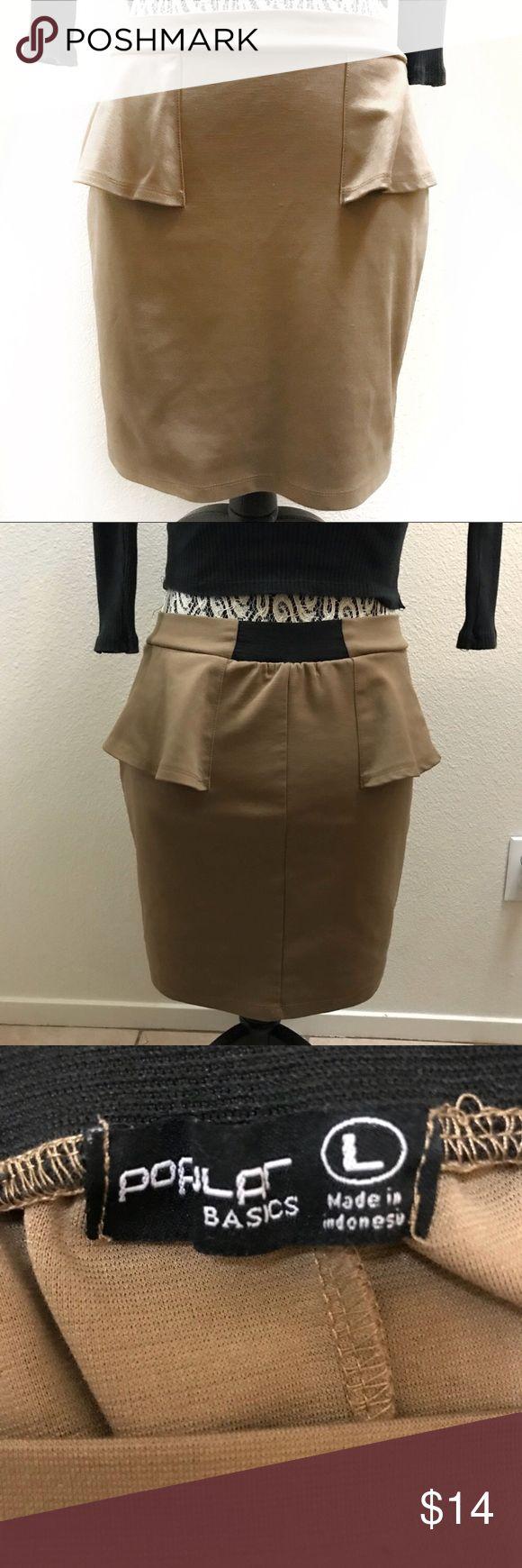 "Popular Basics peplum skirt large Waist 26"" Length 16"" Popular Basics Skirts Mini"