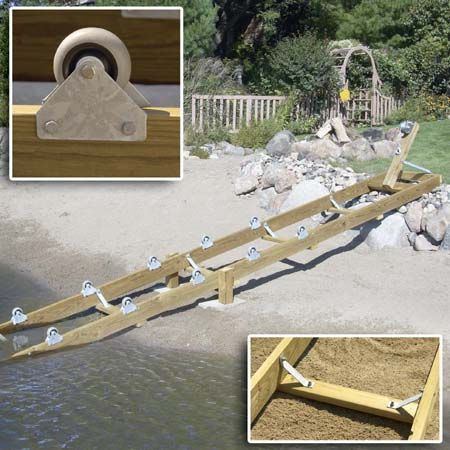 53 best kayak ramp boat launching system images on for Hillside elevator kit