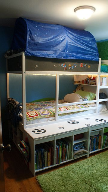 Ikea Hack Raising The Kura Loft Bed Home Decor Pinterest