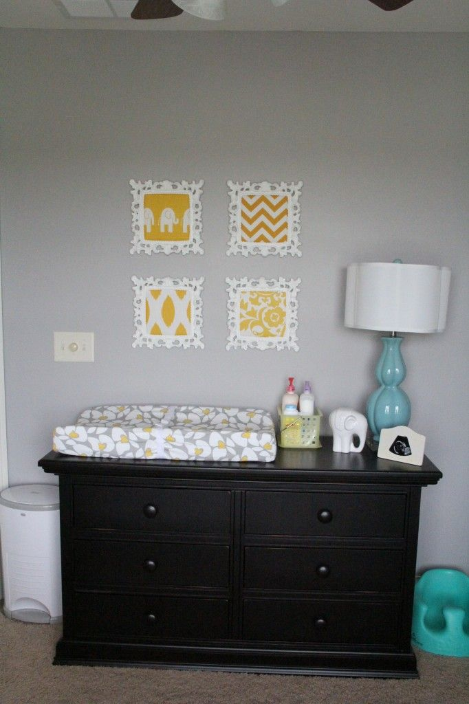 Yellow  Grey and Teal Gender Neutral Nursery   Nursery Designs   Decorating  Ideas   HGTV Rate My Space I like the changing pad on top of the dresser 15 best paint colors images on Pinterest   Nursery ideas  Project  . Paint Colors For Gender Neutral Nursery. Home Design Ideas