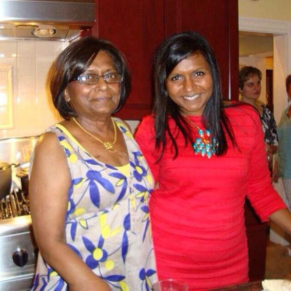 Photo of Mindy Kaling & her Mother  Swati