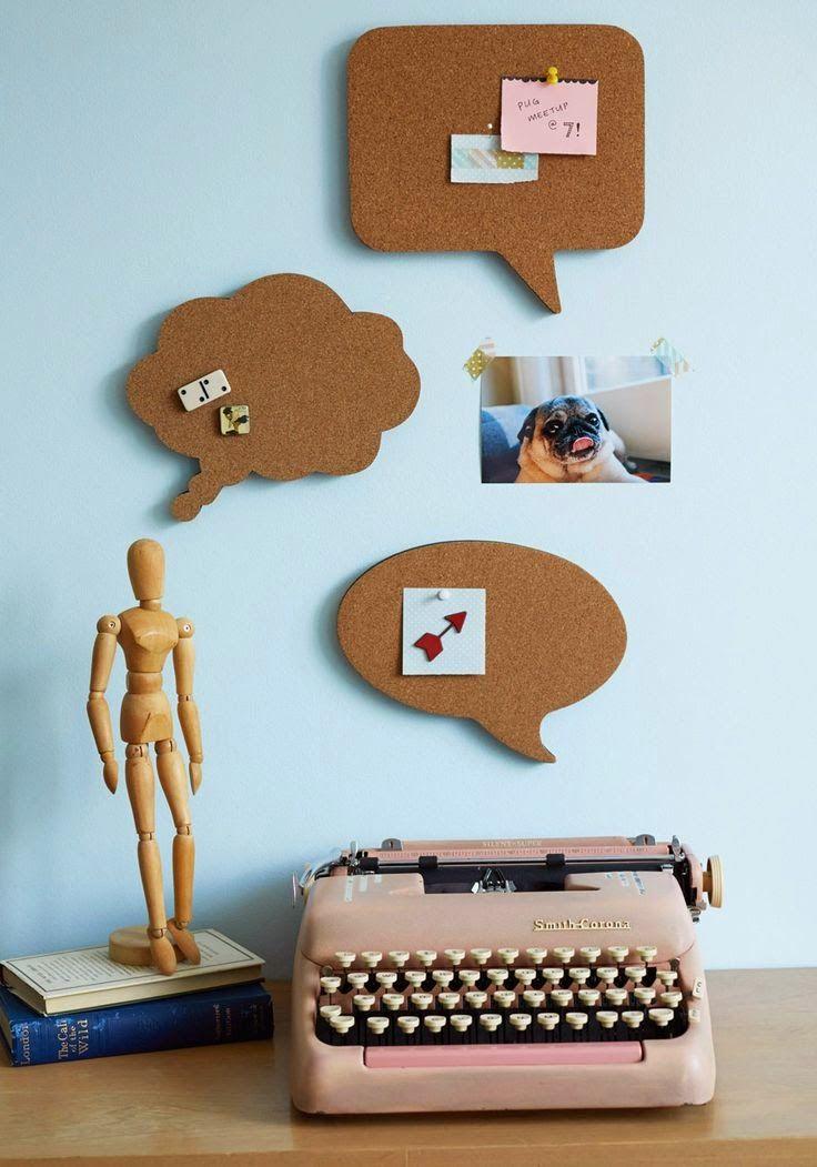 Entre linhas e café: Mural de cortiça {ideias criativas}