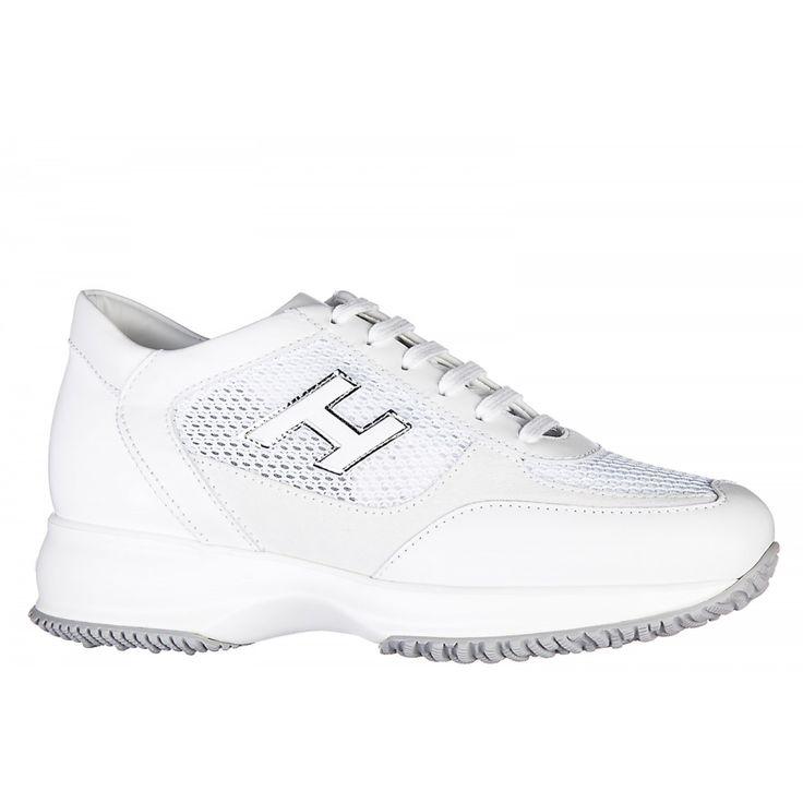 Scarpe sneakers donna in pelle interactive h flock