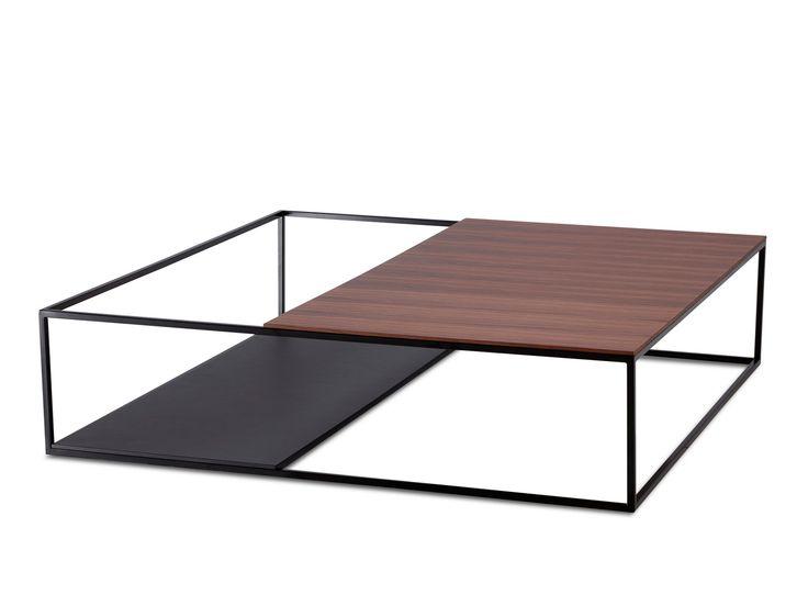 Square coffee table ASCOT JR-T939 by Jori design Claudio Dondoli, Marco Pocci