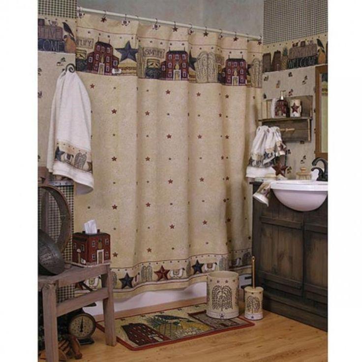 Rustic Primitive Shower Curtains